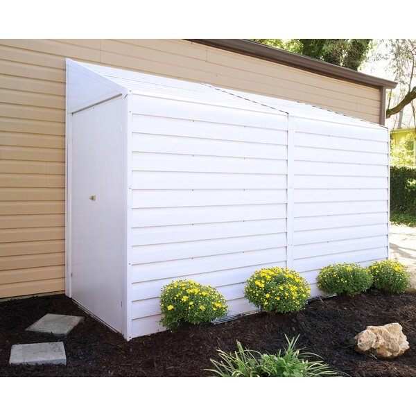 arrow yardsaver 4 ft 1 in w x 9 ft 8 in d metal lean to storage shed reviews wayfair - Garden Sheds 5 X 9