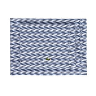Herringbone Percale Printed 100% Cotton Striped Sheet Set By Lacoste