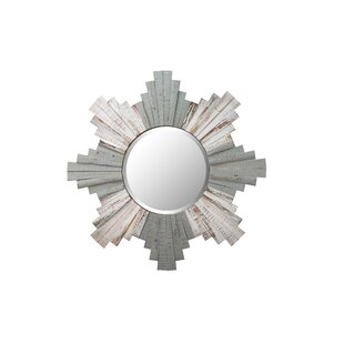 Varaluz Sunburst Framed Beveled Wood Accent Mirror