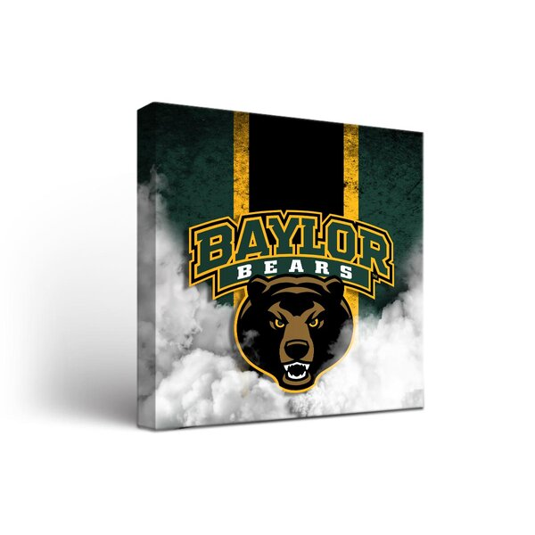 NCAA Baylor Bears Grunge Framed Graphic Art on Wrapped Canvas by Victory Tailgate