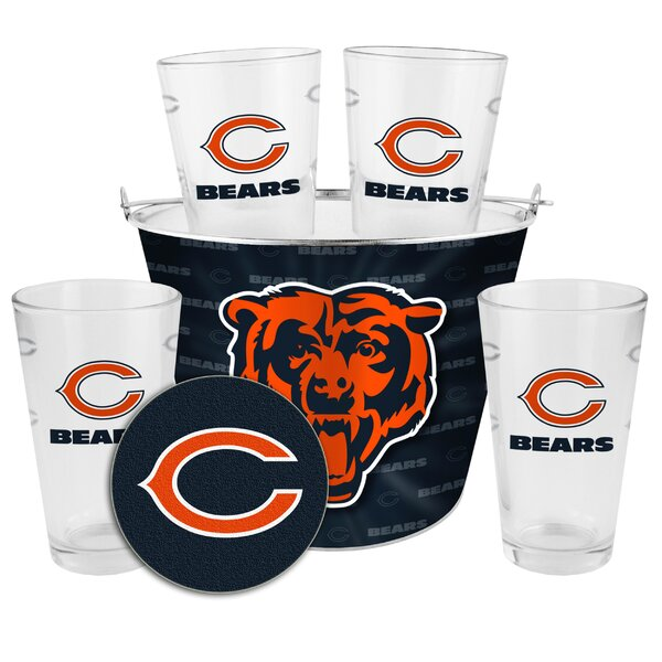 NFL 9 Piece Gift Bucket Set by Boelter Brands