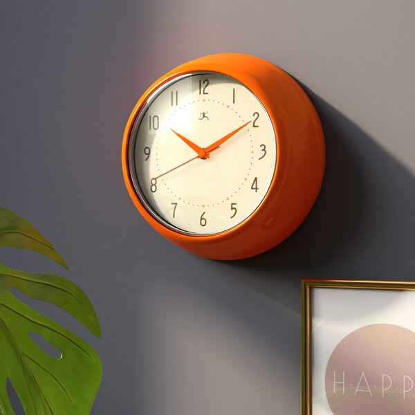Diana 9.5 Round Metal Wall Clock by Langley Street