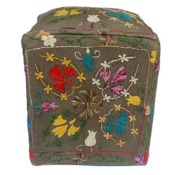 Lavina Kilim Cube Ottoman by Bungalow Rose