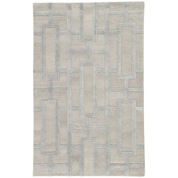 Hazlett Hand-Tufted Feather Gray & Neutral Gray Area Rug by Mercer41