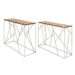 Dubin Iron Wood 2 Piece Console Table Set by Brayden Studio