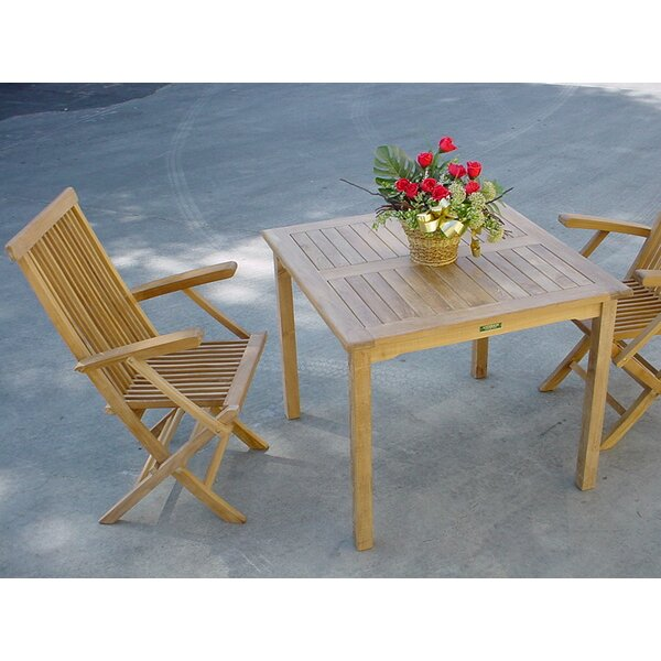 Farnam 3 Piece Teak Bistro Set With Sunbrella Cushions By Rosecliff Heights by Rosecliff Heights Fresh