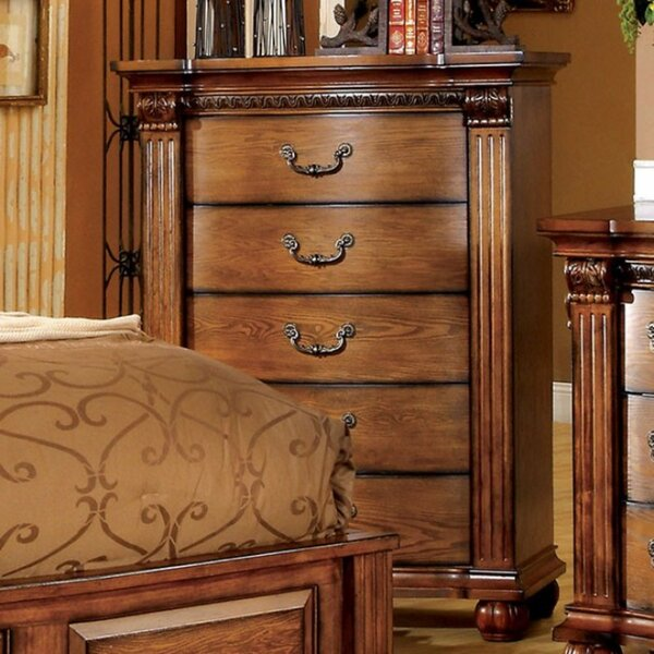 Gingras Traditional 5 Drawers Chest by Fleur De Lis Living