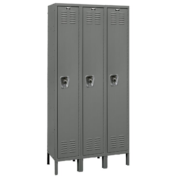 ReadyBuilt 1 Tier 3 Wide School Locker by Hallowell