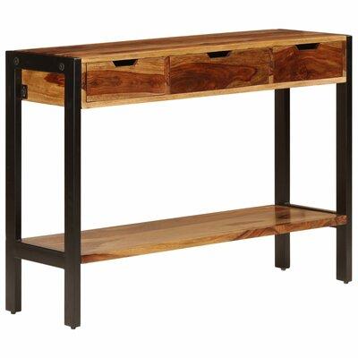 "Union Rustic Tullis 13.8"" Wide 3 Drawer Sheesham Wood Buffet Table"