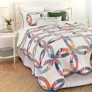 heritage wedding ring reversible quilt set - Wedding Ring Quilts