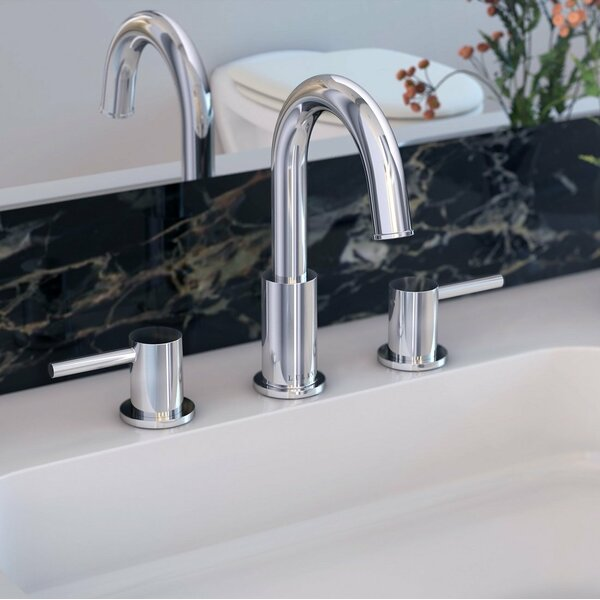 St. Lucia Widespread Bathroom Faucet with Drain Assembly