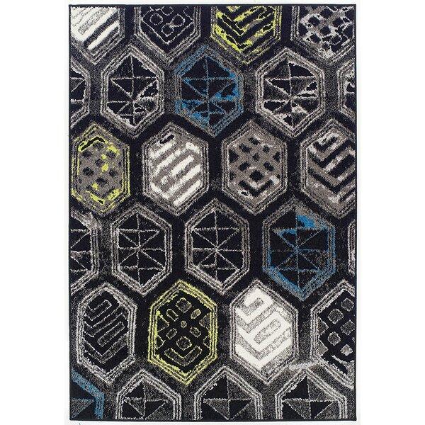 Melbourne Wool Black Indoor/Outdoor Area Rug by Ebern Designs