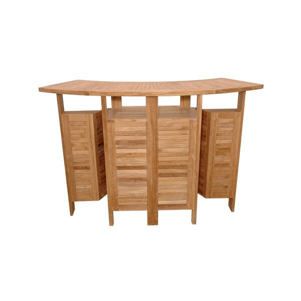 Bourke Teak Home Bar by Freeport Park Freeport Park