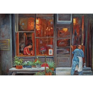 'Italian Street' Painting on Wrapped Canvas by Red Barrel Studio