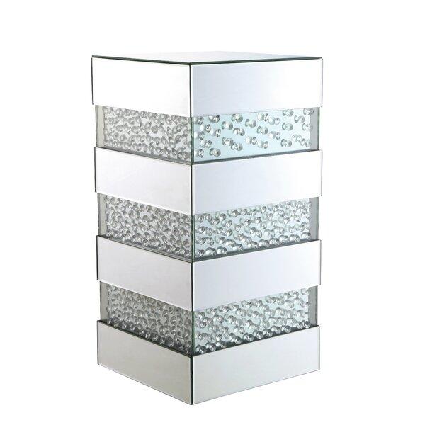 Melina Crystal End Table by Orren Ellis
