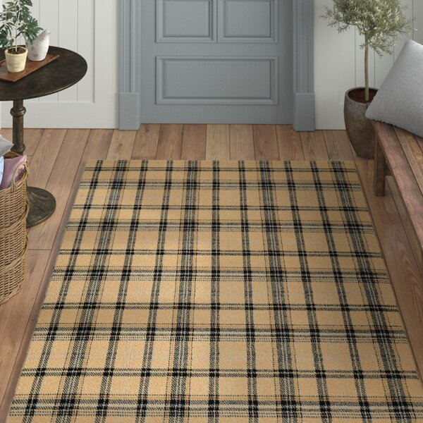 Longmont Plaid Cream/Black Indoor Area Rug by Laurel Foundry Modern Farmhouse