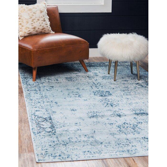 Brandt Oriental Light Blue/Gray/Ivory Area Rug