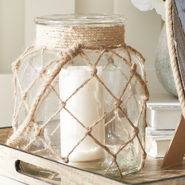 Jute Glass Lantern by Birch Lane™