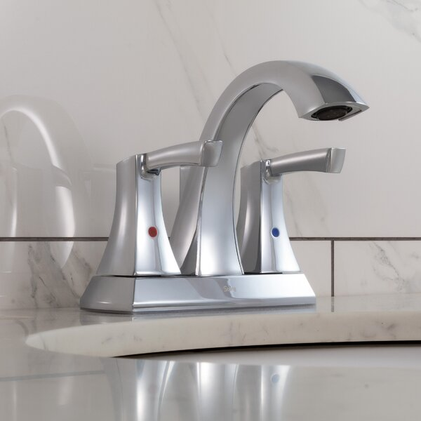 Spring Centerset Bathroom Faucet with Drain Assembly