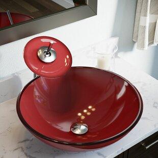 Order Hand Painted Glass Circular Vessel Bathroom Sink ByMR Direct