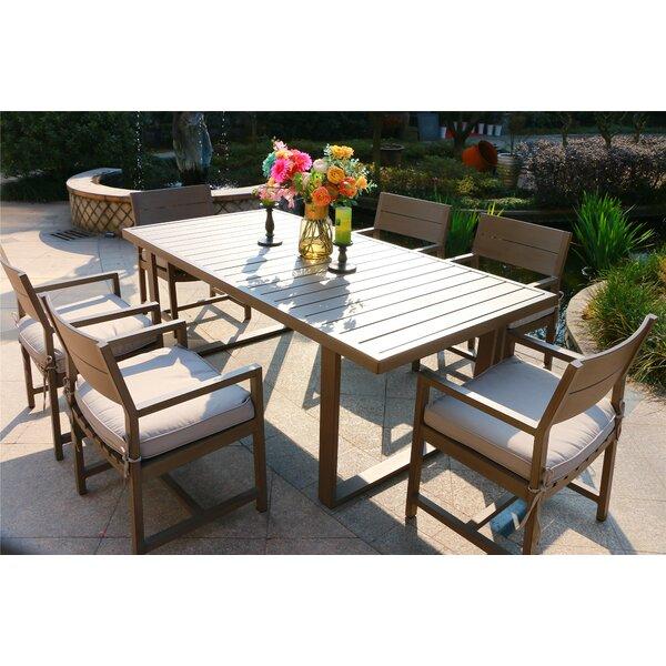 Schreffler Aluminum 7 Piece Dining Set with Cushions by Red Barrel Studio