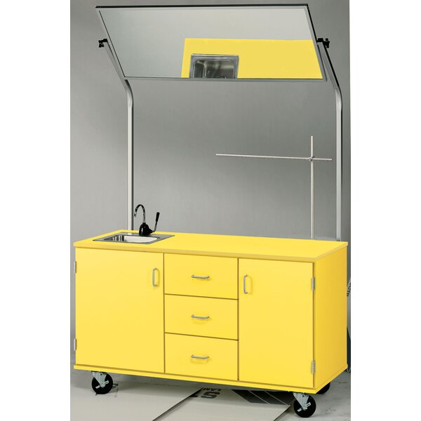 Mobiles Demonstration Station with Mirror and Locks by Stevens ID Systems
