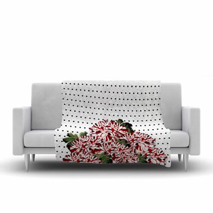 Affordable Tobe Fonseca Spring Pattern Floral Mixed Illustration Fleece Blanket ByEast Urban Home
