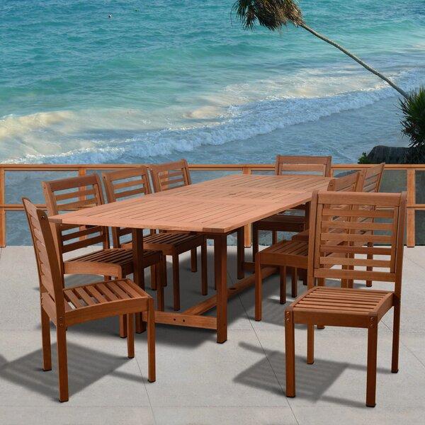 Gutierrez 9 Piece Dining Set by Longshore Tides