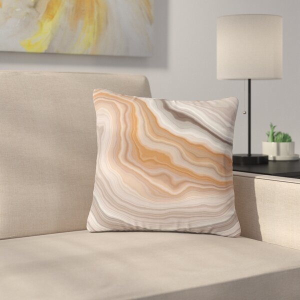 Burnt Geological Outdoor Throw Pillow by East Urban Home