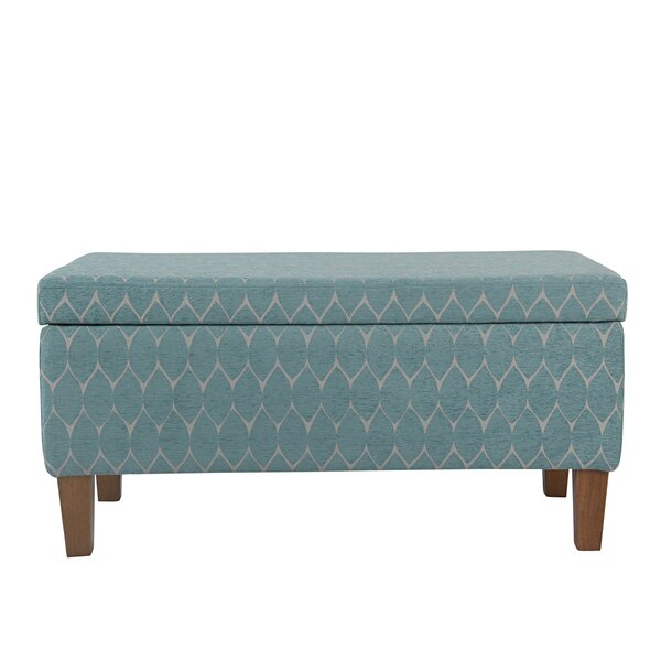 Highland Textured Upholstered Storage Bench by Lat