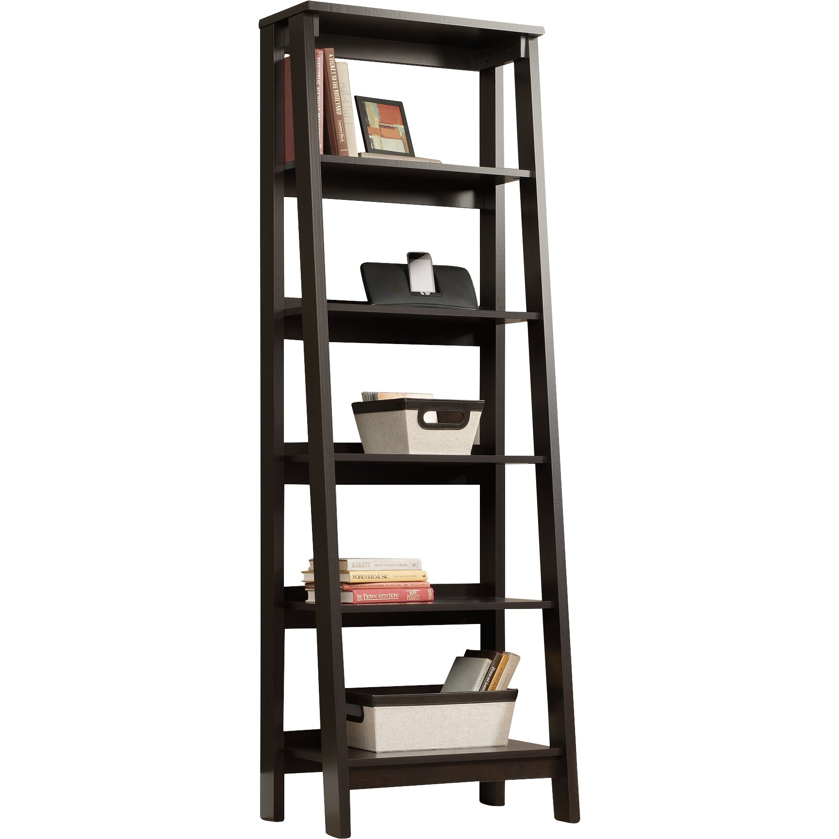 Three Posts Massena 71 Quot Leaning Bookcase Amp Reviews Wayfair