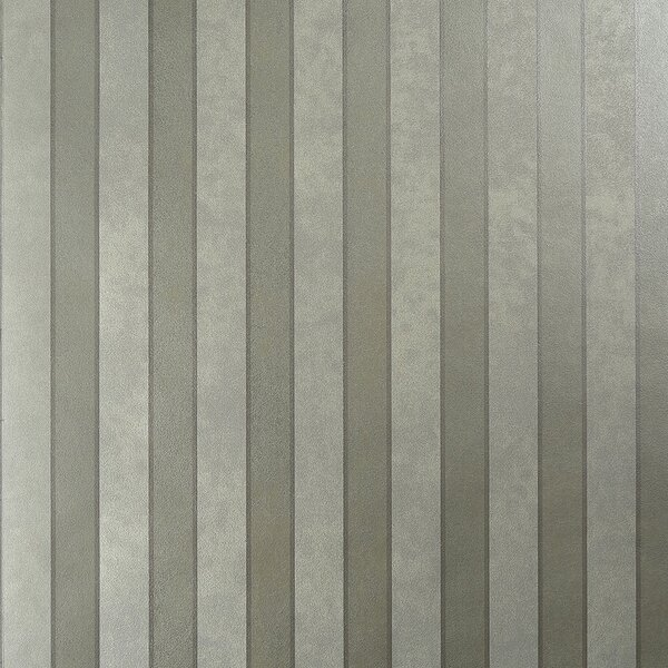 Metallic Modern 27.5 x 27.5 Stripes Wallpaper by Walls Republic