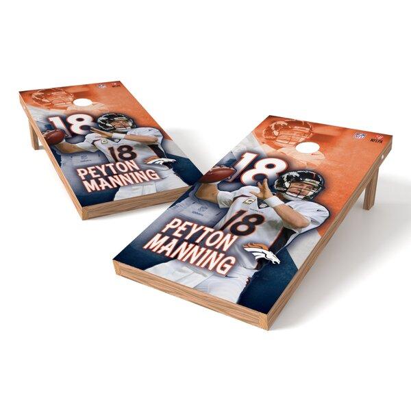NFLPA Broncos Peyton Manning Cornhole Game Set by Tailgate Toss