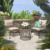 Mclaurin 3 Piece Rattan Seating Group (Set of 3) by Bungalow Rose