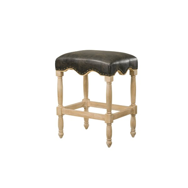 Glinda 26 Bar Stool with PU Upholstered Seat by Darby Home Co