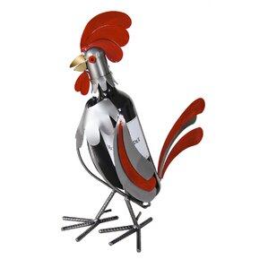 Rooster 1 Bottle Tabletop Wine Rack by H & K SCULPTURES