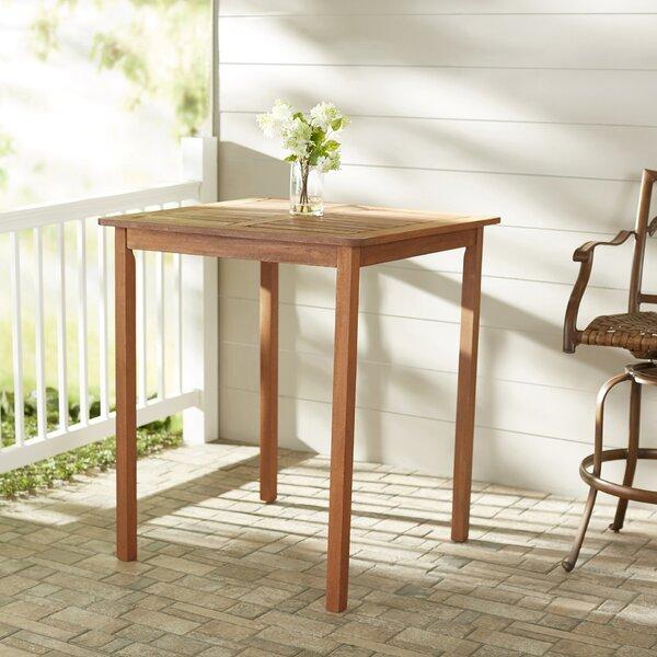 Folse Solid Wood Bar Table by Brayden Studio
