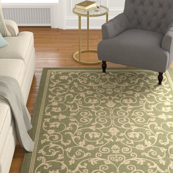 Bexton Green Indoor/Outdoor Area Rug by Alcott Hill