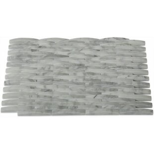 0 38 X 3 Marble Mosaic Tile In White Carrera