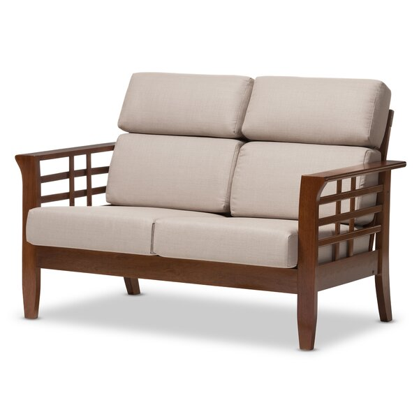 Baxton Studio Armanno 2 Seater Living Room Loveseat by Wholesale Interiors