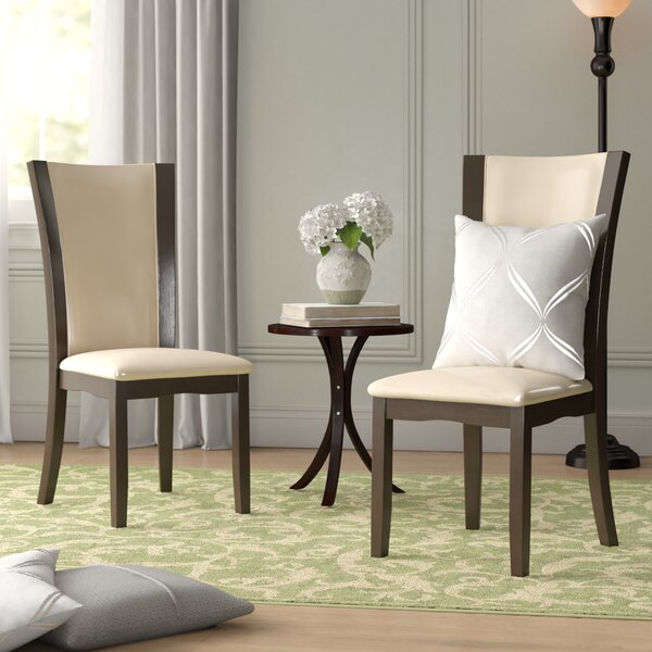 Best #1 Leets Upholstered Dining Chair (Set Of 2) By Latitude Run Purchase