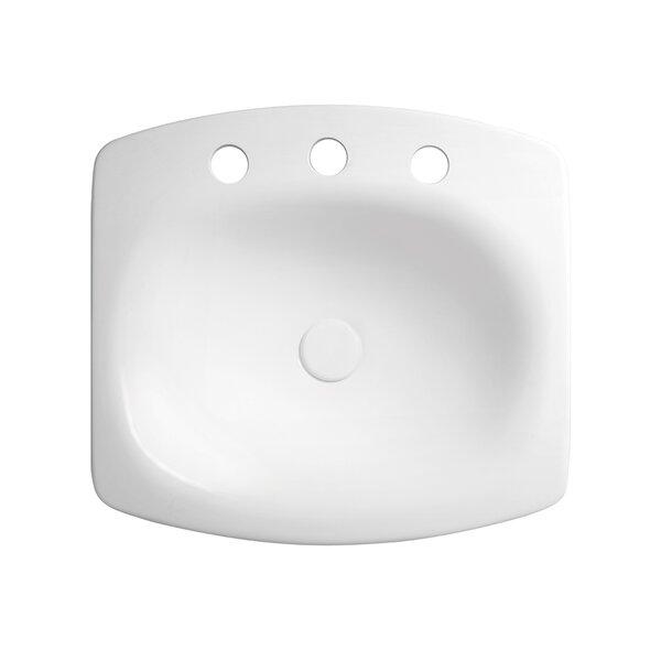 Brit Ceramic Rectangular Drop-In Bathroom Sink by Ronbow