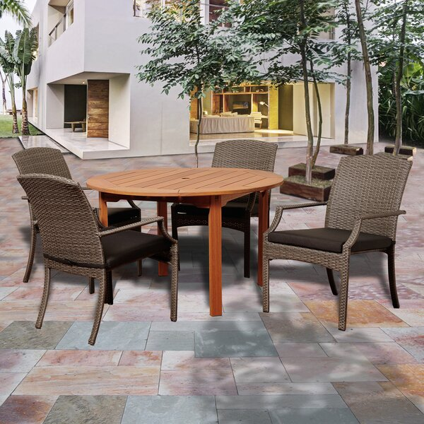 Bridgepointe Eucalyptus 5 Piece Dining Set by Rosecliff Heights