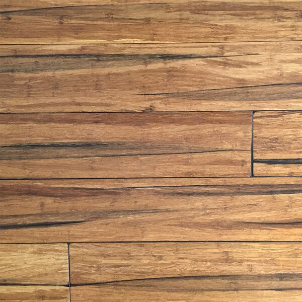 5-2/3 Solid Strandwoven Bamboo Flooring in Peppercorn by ECOfusion Flooring