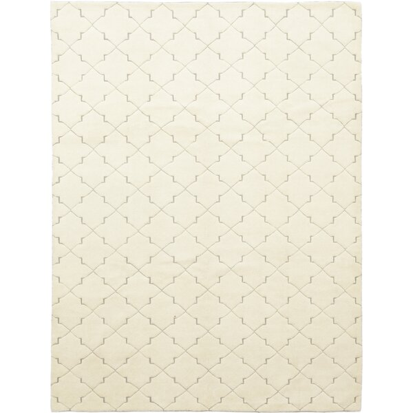 One-of-a-Kind Devonte Hand-Knotted Wool Ivory Indoor Area Rug by Isabelline