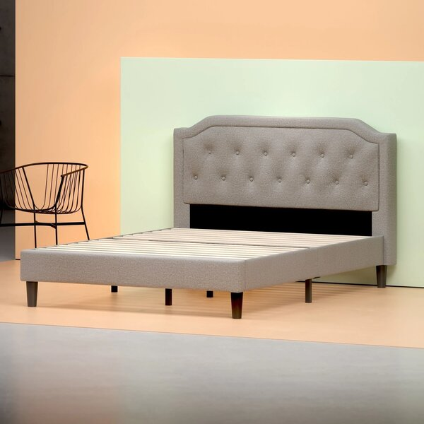 Tufted Upholstered Platform Bed By Zinus