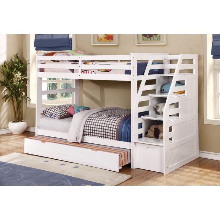 Marchan Twin Over Bunk Bed With Trundle And Drawers