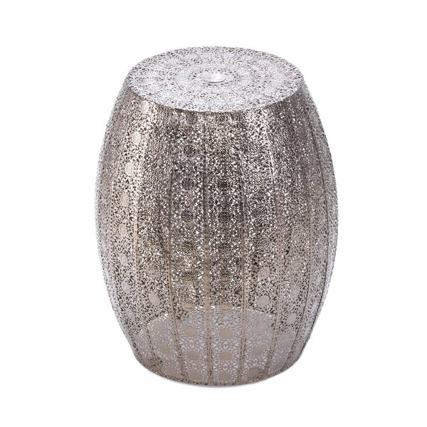 Nikita Lace Accent Stool by Bungalow Rose