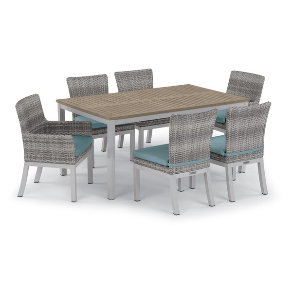 Saleh 7 Piece Sunbrella Dining Set with Cushions by Brayden Studio