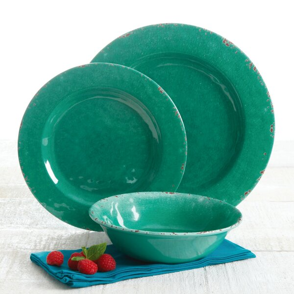 Slaton 12 Piece Melamine Dinnerware Set, Service for 4 by Greyleigh